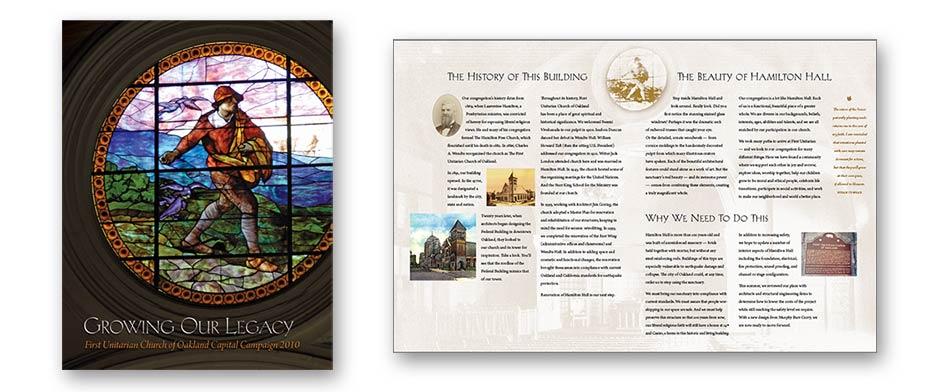Capital campaign print design
