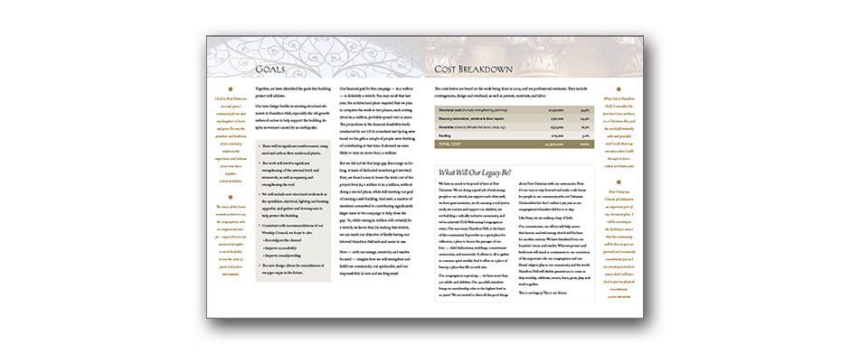 Capital campaign print design 2
