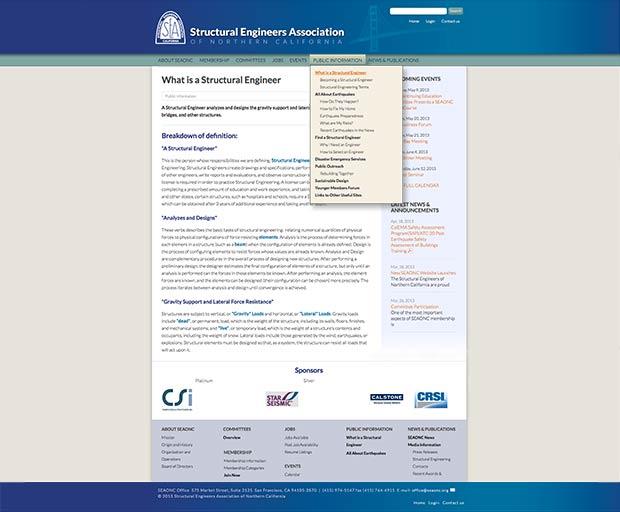 Organization website design 3