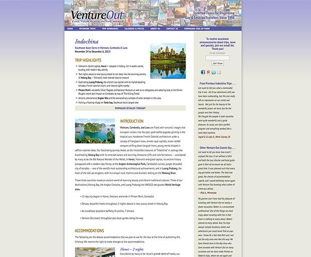 Travel website design 3