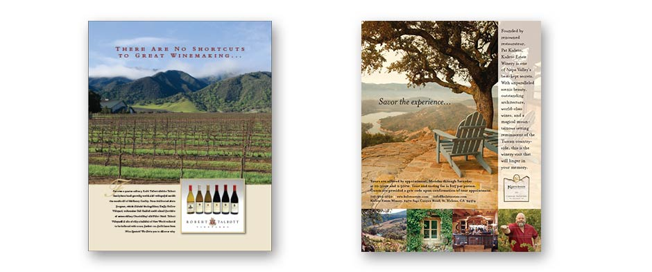 Wine collateral print design