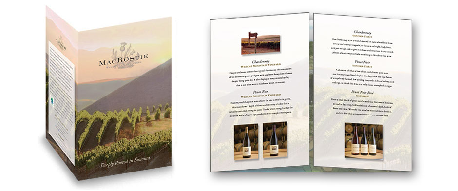 Wine collateral print design 3
